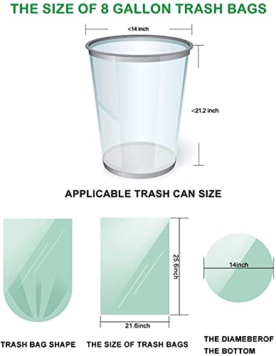 Compostable Trash Bags 8 Gallon Drawstring Trash Bags, AYOTEE 50 Counts 8 Gallon Trash Bags 30 Liter Medium Trash Bags Unscented Garbage Bags for Bathroom,Kitchen Bedroom,Office,Car Trash Can