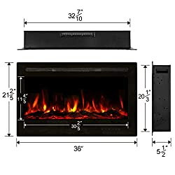 Aoxun Electric Fireplace from Aoxun