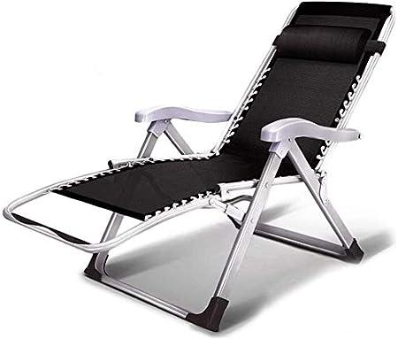 ADHW Sun Silla Tumbona, Muebles de jardín, Camping de jardín Sillas de Ruedas, Plegable reclinable Gravedad Cero, sillón Individual Acolchado: Amazon.es: Hogar