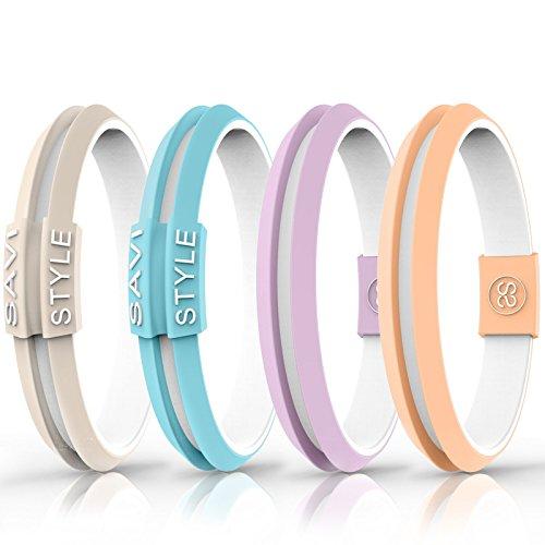 - Hair Tie Bracelet. Functional & Flexible Sportswear Hair Bracelet. On Trend Colors by SAVI STYLE (Medium, Tulum Caribbean)