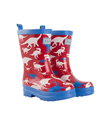 (Hatley Boys' Toddler Printed Rain Boots, Dino Silhouettes, 6 US)