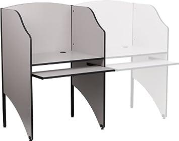 Amazoncom Flash Furniture Starter Study Carrel in Nebula Grey