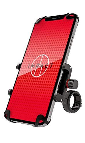 Impact Pro Mount 360° Handyhalterung Fahrrad – Extrem stabile Fahrrad & Motorrad Handyhalterung aus Metall – mit 360…