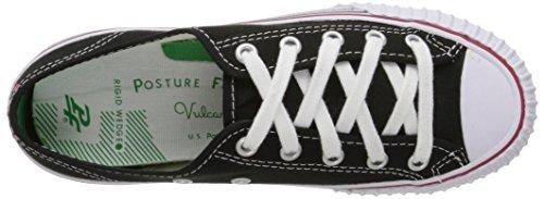 Volantini Da Uomo Centro Sneaker Nero Canvas