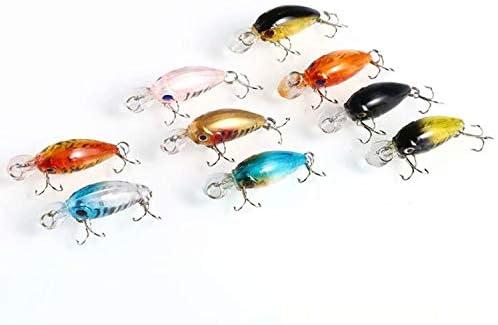 Liroyal 10 pi/èces crochets aiguis/és de 4.5 cm et 4 g. leurres de p/êche d/'eau douce /à t/ête de plomb et appat pour poisson d/'eau douce