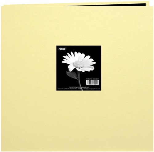 pioneer-8-inch-by-8-inch-postbound-fabric-frame-cover-memory-book-soft-yellow