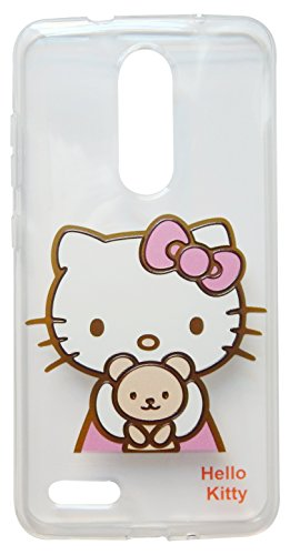 (TPKT1) Thickened Hello Kitty Clear shockproof case for ZTE ZMAX Pro / Z981 (6 inch) (Hello Kitty Phone Case For A Zte)