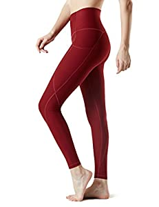 Tesla TM-FYP54-WNE_Medium Yoga Pants High-Waist Leggings w Side Pockets FYP54