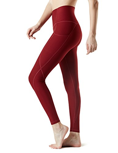 Tesla Medium Yoga Pants High-Waist Leggings w Side Pockets