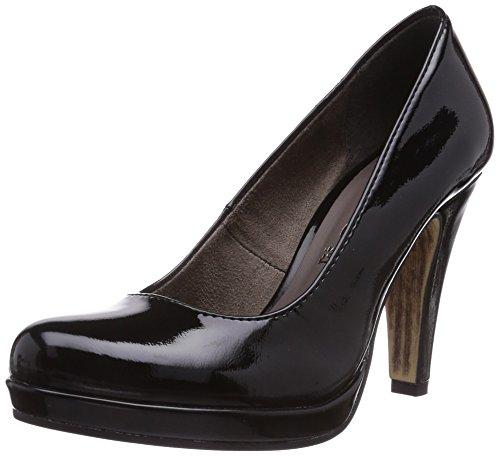 Tamaris 22426 - zapatos de tacón cerrados de material sintético mujer negro - Schwarz (Black Patent 018)
