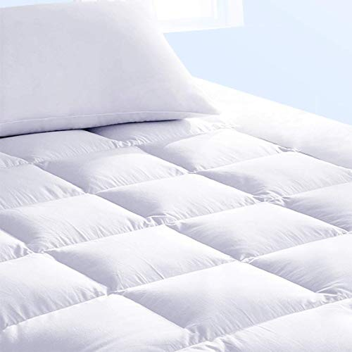 Pure Brands Mattress Topper & Mattress Pad Protector in One - Quality Plush Luxury Down Alternative Pillow Top - Make Your Bed Luxurious - 18