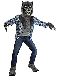Howling Werewolf Deluxe Kids Costume Set Mask Halloween Dress Up Party