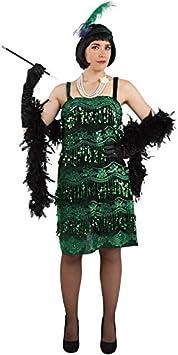 DISBACANAL Disfraz de Charleston para Mujer - Verde, L: Amazon ...