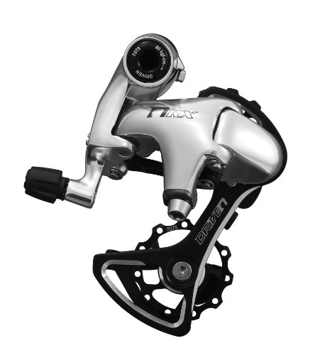 DRIVEN RDRX2 10/9-Speed Short Cage Bike Derailleur with Bolt, Silver ()