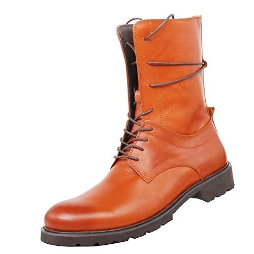 Libre Cuero Brown Trabajo Invierno Hombre Aire Largas Botas Al Altas Martin Hombres Calzado Los Utilidad Montar Ocasionales De 4TqFZX