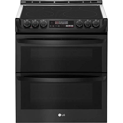 LG LTE4815BM 7.3 Cu. Ft. Matte Black Stainless Double Oven Electric Range