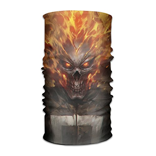 SkullMask Ghost Motorcycle Rider Seamless Horror Temperament Sports (Ghost Rider Mask Adults)