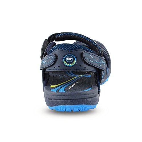 discount factory outlet sale best prices Gold Pigeon Shoes GP5937 Easy Snap Lock Closure Sports/Water Sandals for Men & Women 7643 Black Blue 8U5oeLDSp