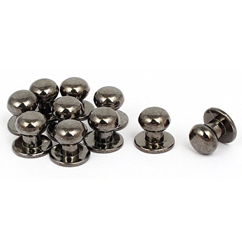 uxcell Jewelry Box Gift Case 12mmx11mm Metal Pull Handle Knobs Black 10pcs