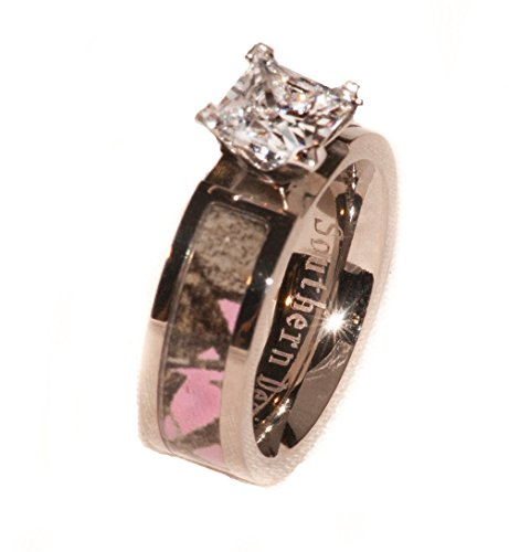 Pink Camouflage Wedding Engagement Ring For Women (5