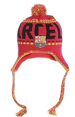 Amazon.com: FC Barcelona Barca Gorro o Gorra Pom Pom Peruvian Beanie Knit Hat Cap: Clothing