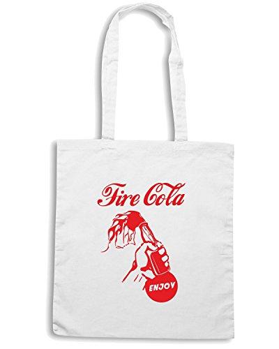 T-Shirtshock - Bolsa para la compra ENJOY0099 Enjoy your riot Blanco