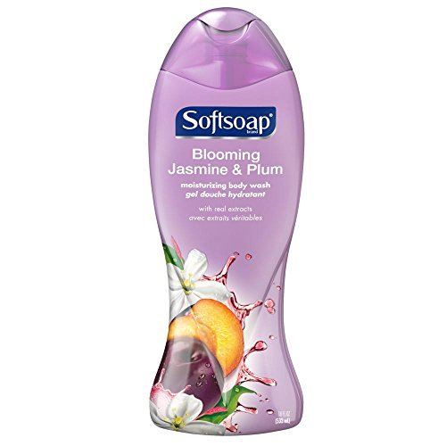 Softsoap Moisturizing Body Wash, Blooming Jasmine & Plum - 18 fluid - Body Hydrating Softsoap Wash