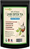 Liver Cleanse Detox tea for liver repair with silymarin milk thistle seed as liver detoxifier & regenerator, dandelion root tea, burdock root - 60 gms | USDA Organic