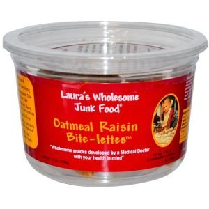 Laura's Wholesome Junk Food Bite-Lettes Oatmeal Raisin -- 7 oz by Laura's Wholesome Junk Food by Laura's Wholesome Junk Food Bite-Lettes Oatmeal Raisin (6x7Oz)