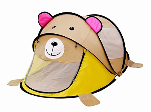 Super Kid Land - Baby Pop Up Children Play Tent (Brown Bear) (Fold Up School Bus Tent)