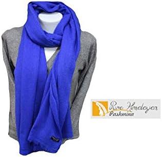 100/% Royal Blue Cashmere Shawl Pashmina Scarf Wrap Stole Women Wool Soft Winter