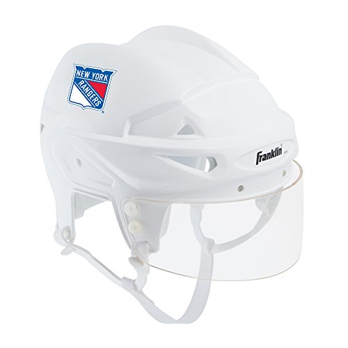 Franklin Sports New York Rangers Mini Player Helmet - White Helmet w/Player Number Stickers - Great for Autographs - NHL Official Licensed Product (Best Youth Hockey Helmet)