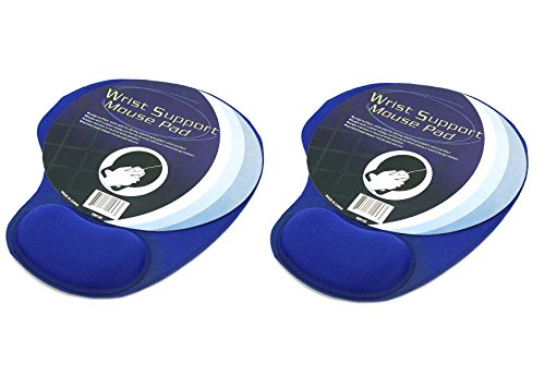 Price comparison product image Bulk Buys Mouse Pad With Cushion Wrist Support (Pack of 2)