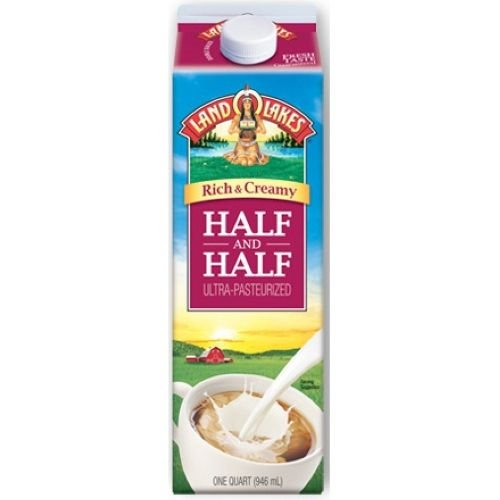 Land O Lakes Half and Half Ultra Pasteurized Coffee, 32 Ounce -- 12 per case. by Whitewave (Image #1)