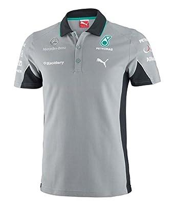 puma mercedes amg petronas f1 2014 men 39 s team polo shirt dark shadow small at amazon men s. Black Bedroom Furniture Sets. Home Design Ideas