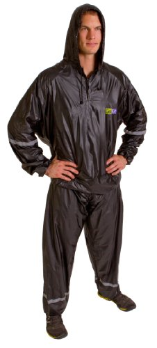 GoFit Unisex Thermal Sweat Suit - Hooded Suit For Training, Weight Loss, and Exercise