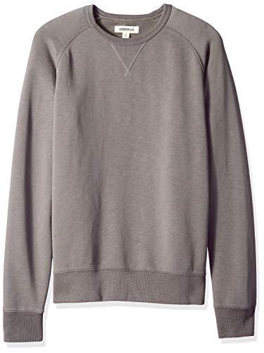 Goodthreads Men's Crewneck Fleece Sweatshirt, Grey Castlerock, Large