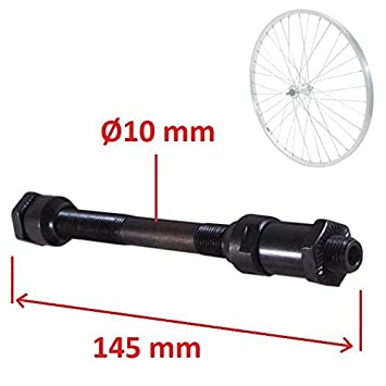 Bike Wheel Hub Axle Front Rear Solid Spindle Shaft Vintage Fixie BMX MTB Road
