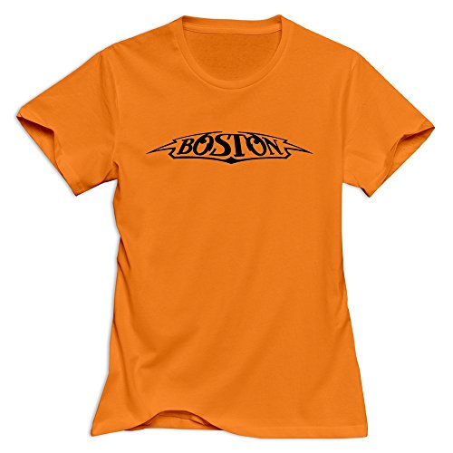 Boston Band Classic 100% Cotton Orange Tee Shirts For Women Size XS