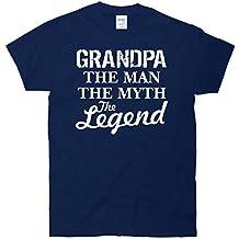 Grandpa The Man Myth Legend T-Shirt navy Large