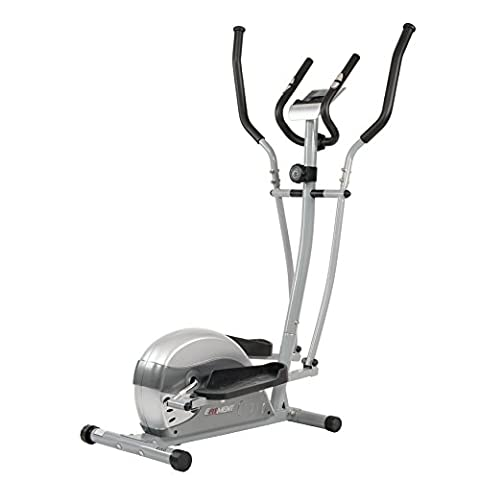 Compact Magnetic Elliptical Machine Trainer with LCD Monitor and Pulse Rate Grips by EFITMENT - - Home Elliptical Trainer