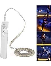 Led Strip Lights Battery Powered,Motion Sensor Led Light Strips Smart Night Light Motion Activated Night Light Led Strip Light for Room Cool White Light-5M / 16.4ft