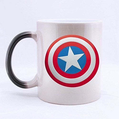 Emana New Captain Shield Cool Customized Design Water Coffee Mug Novel Gift (Morph Shield)