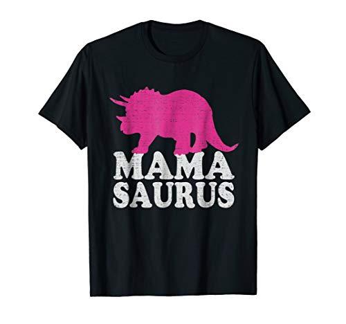MAMASAURUS T Shirt, Cute Triceratops Dinosaur Mom T-Shirt