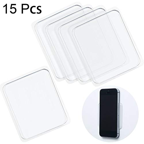 15 Pieces Sticky Gel Pads Silicone Sticky Pads Sticky Gripping Pads Anti-Slip Pads for Car Cell-Phone Office (Car Anti Non Slip Dashboard Magic Mat Pad)