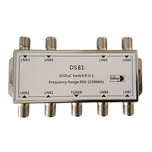 SODIAL(R) 8x1 8/1 DiSEqC Switch Switch Sat Distributor Switch for 8 satellites 135148