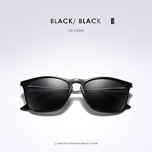 Sunglasses Sol Polarizadas Marca Gafas Retro de estilo Negro Outlet Moda de qS50x6I5