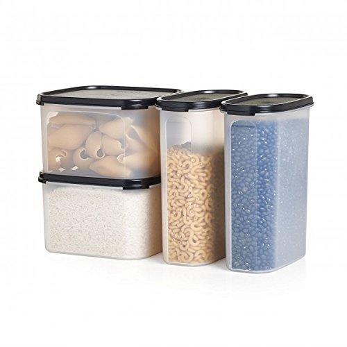 Pasta Storage Container Center Modular Mates Tupperware Black 4 Piece