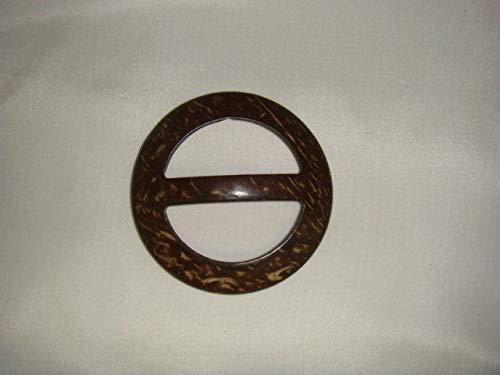 Clearance Two Tone Brown Beige Wooden Belt Buckle Slider 2.5 x 2.5#ID-224
