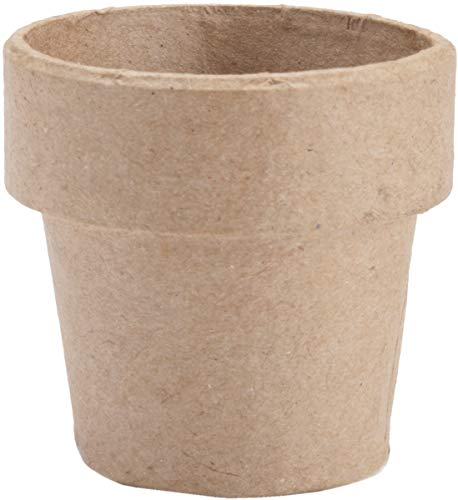 Paper Mache Clay Pot 4 X 4 Inches (4 -
